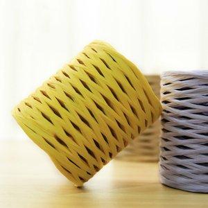 200 M Roll 100%  Straw Yarn Hand Crocheting Yarn for Diy Handmade Hats Bags Baskets Diy Natural  Straw Yarn 201004