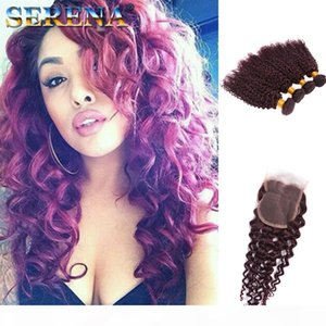 Cabello de alta calidad Virgin Weave Weave 4 paquetes Extensiones de cabello humano Curl Barato Sin procesar 99J Kinky Curly Hair Bulk Monogolian Kinky Curl