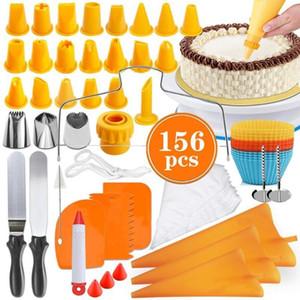 Легкий набор инструментов для украшения торта для выпечки помадка для выпечки поставляет семейные кухни Esssentials 156 шт.