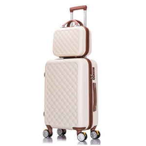 """Travel suitcase set Rolling Luggage set Spinner trolley case 26"""" boarding wheel Woman Cosmetic case carry-on luggage travel bags LJ201118"""