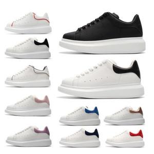 Hohe Qualität Kundenspezifische Produkte Velvet Black Leather MEN S Womens High Platform SohleAlexander Designer Schuhe Kleid Schuh McQueuts 2308 #
