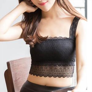 Sexy Women Lace Bralette Bralet Bra Bustier Crop Top Floral Comfortable Padded Tank Tops UND Sale