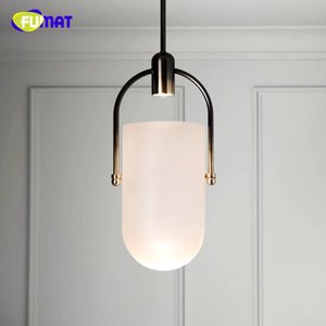 FUMAT Nordic Creative Smoke Glass Chandelier Art Bucket Designer Dining Room Bedside Led Hanging Light Fixtures Free Shipping