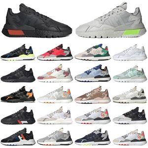 Nite Jogger Erkekler Kadınlar Spor Ayakkabı Üçlü Siyah Beyaz Joggers Açık Mens Bayan Eğitmenler Spor Sneakers Koşucular Boyutu 36-45
