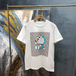 2021ss spring and summer new high grade cotton printing short sleeve round neck panel T-Shirt Size: m-l-xl-xxl-xxxl Color: black white 34
