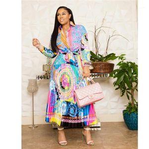 Africa Abbigliamento Abbigliamento African Suit For Donne Set New African Print Elastico Bazin Baggy Gonne Stile Rock Style Dashiki Sleeve Vestito per Lady1
