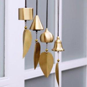 Pure Copper Wind Bell Pendentif Exquis Creative Home Balcon Chambre à coucher Vent Bell Connectèle Voiture Pendentif Anniversaire Fournitures Fête Ferme FFE4516