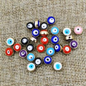 100 pcs Turkish Mal Eye Encantos Acessórios Para Mulheres Homens Handmade Pulseiras Colar Brincos Fazendo Diy Jóias Acessórios 8mm