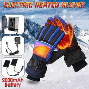 1 Pair Electric Heated Gloves Winter Thermal USB Hand Warmer Touch Screen Winter Warmer Waterproof For Motorcycle Skiing Gloves