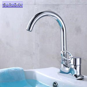 Polished Chrome Bathtub Basin Faucets Brass Deck Mounted Bathroom Sink Faucets Double Handle 2 Hole Hot And Cold Water Mixer Tap1