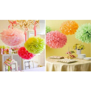 Hot Sale!50pcs Tissue Paper Pom Poms Paper Lantern Pom Pom Blooms Flower Balls 6 8 10 12 14inches sqcksF sports2010