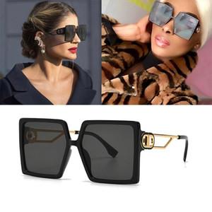 2020 Novos Óculos de Sol de Moda Oversized Mulheres Vintage Sunglasses Eyewear Feminino Big Shade UV400 Novo Design 11