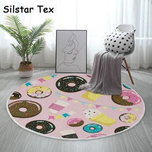 Silstar Tex Sweet Donuts Round Carpet For Kids Room Mildew Resistant Mat Quick Dry Rugs Household Bathroom Restaurant1