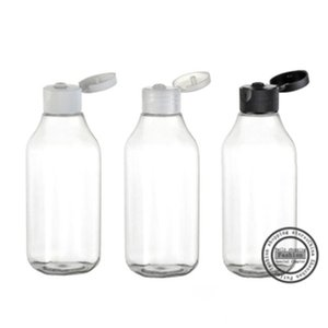 Hot sale,30pcs,100ml Transparent clamshell square necked bottle,lotion bottles, refillable bottles