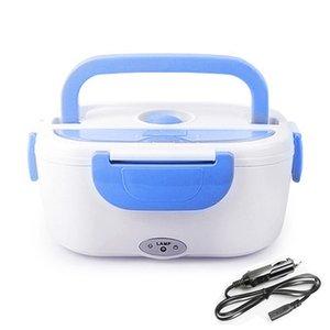 Ahtoska Portable1.05L12v / 220V Riscaldamento elettrico Riscaldamento per il pranzo Pranzo Car Plug Wood Walker Bento per l'ufficio scolastico Home Plastica Dinnerware T200710