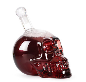 Creative Crystal Skull Head Bottle Whiskey Vodka Wine Decanter Bottle Whisky Glass Beer Glass Spirits Cup Water Gl bbyNlS bdesports