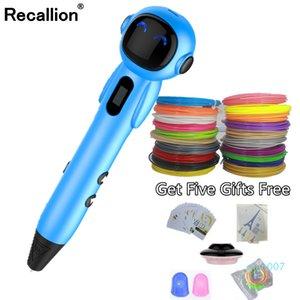 الأصل نموذج 3D القلم DIY 3 D الطباعة رسم أقلام و100/200 متر PLA خيوط لعبة هدية الإبداعية للتصميم الاطفال بالجملة