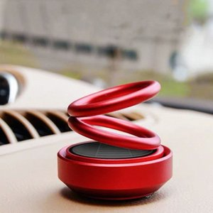 Аксессуары Магнитный сплав освежитель воздуха салона Подвеска Двойное кольцо Perfume солнечный автомобиль Fragrance Вращающийся 0JjZ #