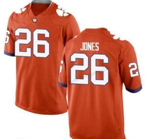 Baratos Tigres de Clemson encargo # 26 Sheridan Jones Fútbol Todos los hombres del jersey cosido naranja blanco Cualquiera Tamaño 2XS-3XL 4XL 5XL Nombre Número de O