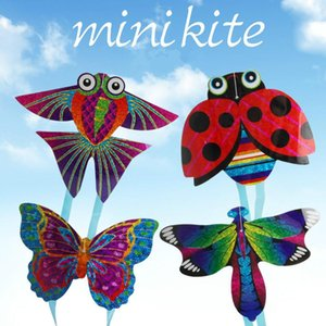 Random Outdoor Fun & Sports Kite Flying Toys For Children outdoor Toy Cartoon Aircraft Butterfly Insect Mini Kites