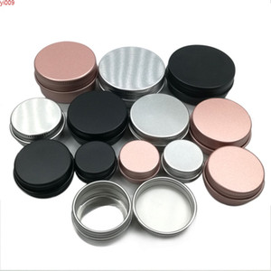 50pcs 5g 10g 15g 30g Aluminum Jar Metal Containers Lip Balm Container Empty Candle Jars Cream Pot Boxhigh quatity