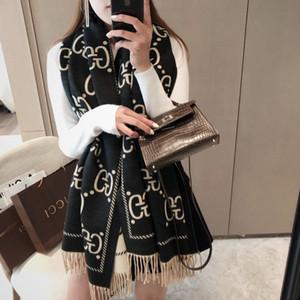 2020 de alta qualidade Inverno Cashmere Scarf Pashmina Para Mulheres Marca Designers quente Scarf Mulheres Moda Cashmere Lã Longo Xaile Enrole