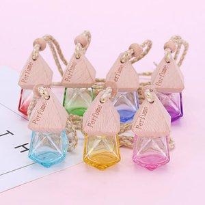 2020 Vendas Quentes Color Rhombus Perfume Vazio Garrafa de Carro Perfume Pingente de Carro Interior ESPECIAL DIFUSORES T9I00719