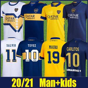 2020 Boca Juniors Jersey de football Carlitos Tevez Maradona Football Shirts de Rossi Salvio Abila Uniformes de football Boca Juniors Kit 20/21