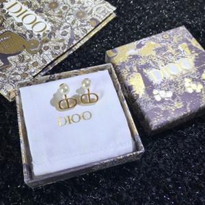 D Familia / DIJIA 2020 Nuevo CLÁS CLÁSICO CD Pendientes de perlas Seleccionado Brass 925 Silver Aguja
