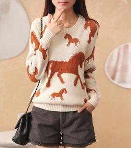 OHCLOTHING Особенно, под +2017 весной тройником полотенце лошади дама свитер с длинными рукавами свободного свитера пальто женщина. d1qP #