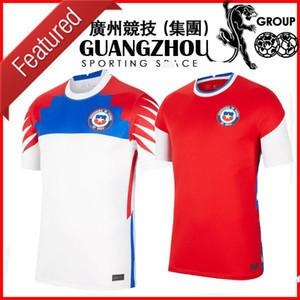 2020 칠레 키즈 축구 유니폼 홈 멀리 Copa America Pulgar 13 A.Vidal 8 Medel 17 Mora 11 Vegas 16 Men 20 21 Jersey Football Shirts