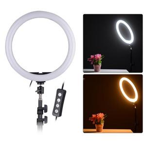 LED Light Ring Kit селфи Ring 2700-5500K светодиодный свет лампы С подставкой держатель телефона камеры Фото Видео съемка