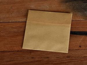 10 * 10 cm Klassisches Papier Briefumschläge Weiß Schwarz Kraft Blank Paper Fenster Umschläge Hochzeit Einladungs-Umschlag Geschenk Umschlag