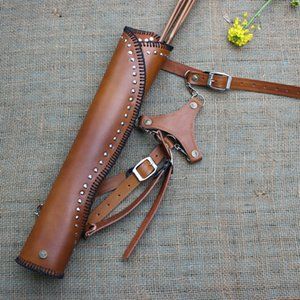 Freccia tradizionale borsa a fiocco a tre punte Inclinato in vacchetta di vacchetta in vacchetta del cagnolino all'aperto attrezzature per riprese film e televisione