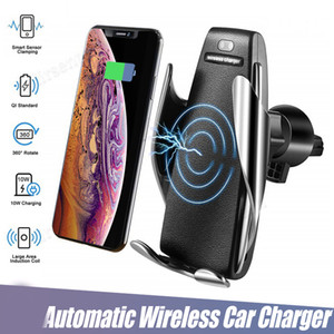 S5 Wireless Charger Automatic Clamping Car Charger Holder Mount Smart Sensor 10W Fast Charging Charger for iPhone Samsung Universal Phones