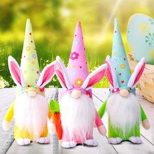 Пасхальный кролик гном украшения Пасхальная безликая кукла пасхальный плюшевый карлик домашняя вечеринка украшения детские игрушки W-00652