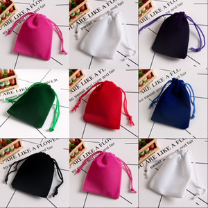 Soft Velvet Jewelry Pouches Storage Bags Rings Necklace Earrings Stud Bracelets Bangle Gift Drawstrings Packaging Bags 393 N2