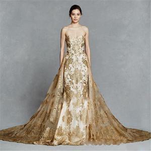 Kelly Faetanini cor do ouro bordado trem destacáveis reais Prom Dresses 2020 Sparkly Querida Backless Two Pieces Vestido de Noite