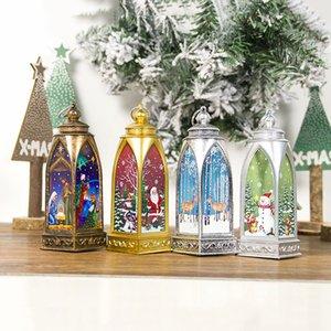 Brelong Nuevo Decoraciones de Navidad creativo pintado luces ornamentos de las luces de navidad colgantes 1 Pc