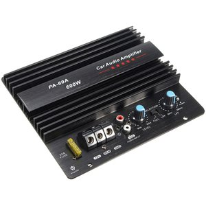 12V 600W PA-60A Speaker Subwoofer Bass Module High Power Car Audio Accessories Mono Channel Durable Lossless Amplifier Board