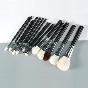 Профессиональный ручной кисти для макияжа Set 15pcs Синтетический Soft Natural Goat Hair Fiber Face Powder Eye Shadow Brush Make Up Brush Kit
