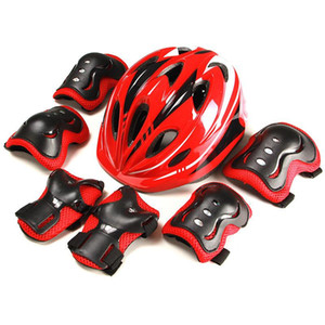 Kids Multi Sports Protective Gear Set 7 in 1 Protective Equipment Helmet Pads Set For Scooter Skateboard Roller Skating Cycling