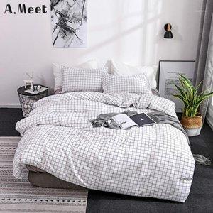 Nordic King Tamaño Duvet Funda 220x240 Grid Queen Nature Japonés Coreano Francés Adolescente Ropa de cama Conjunto de niños Bedroom Warm Western 200 * 2001