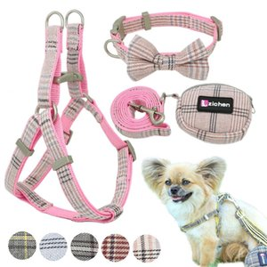 Soft Dog Harness and Leash Set Adjustable Nylon Chihuahua Dog Collar For Small Medium Dogs Pet Products Walking