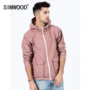SIMWOOD Autumn new plaid jacket men hooded casual outerwear plus size windbreaker coats high quality SJ130053 201009