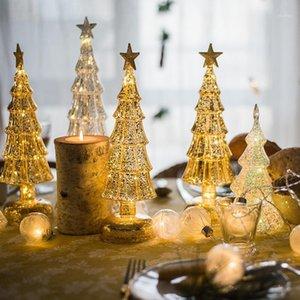 Crystal Glass Sapin De Noël Festival Maison Ornements Ornements de Noël Décoration de Noël 2020 New1