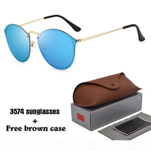 High Quality Brand Designer Cat Eye Sunglasses for Men Women Sports Sun Glass Gafas de sol with brown cases and box