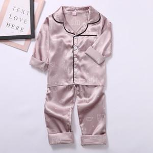 Ensemble de bébé Pajamas Sleepwear Kids Enfants Bébé Baby Garçons Filles Dessin animé Rabbit Tops + Pantalons Pajamas Vêtements de nuit Vêtements Enfants Vêtements C1118 1B8i