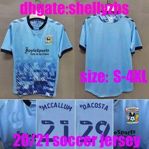 Büyük Boy: S-4XL 2020 2021 Coventry City Futbol Jersey Hamer Kelly Biamou Jobello Eve 20 21 Futbol Gömlek