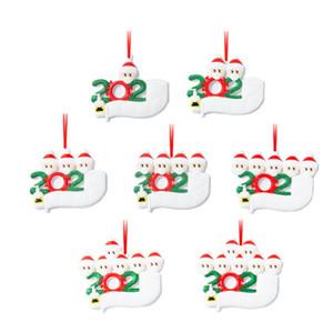 DIY Nombre 2020 fiesta de Navidad Decoración de cuarentena regalo de Santa Claus con la máscara personalizada del árbol de Navidad adorno de todas las series